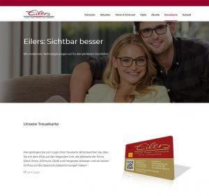 Kundenkarte vom Optiker Eilers auf der Webseite