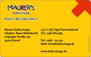 Die Kundenkarte von Mauer`s Baikschopp