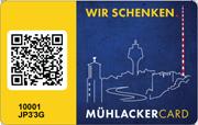 """Die Citycard (Geschenkkarte) von Mühlacker - """"Wir schenken"""""""