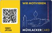"""Die Citycard (Mitarbeiterkarte) von Mühlacker - """"Wir motovieren"""""""