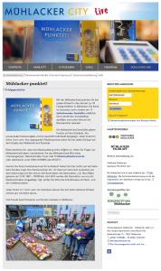 """Die CityCard """"MühlackerCard"""" auf der Webseite"""