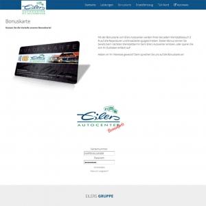 Die Bonuskarte vom Eilers Autocenter auf der Webseite