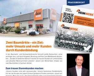 Praxisbericht vom Baumarkt Heimwerk über die Kundenkarte