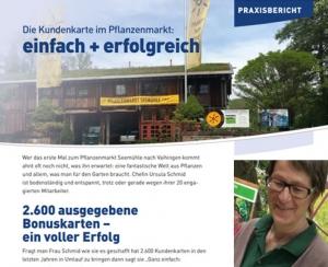 Praxisbericht vom Pflanzenmartk Seemühle über die Kundenkarte